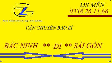 Chuyển bao bì Băc Ninh đi Sài Gòn